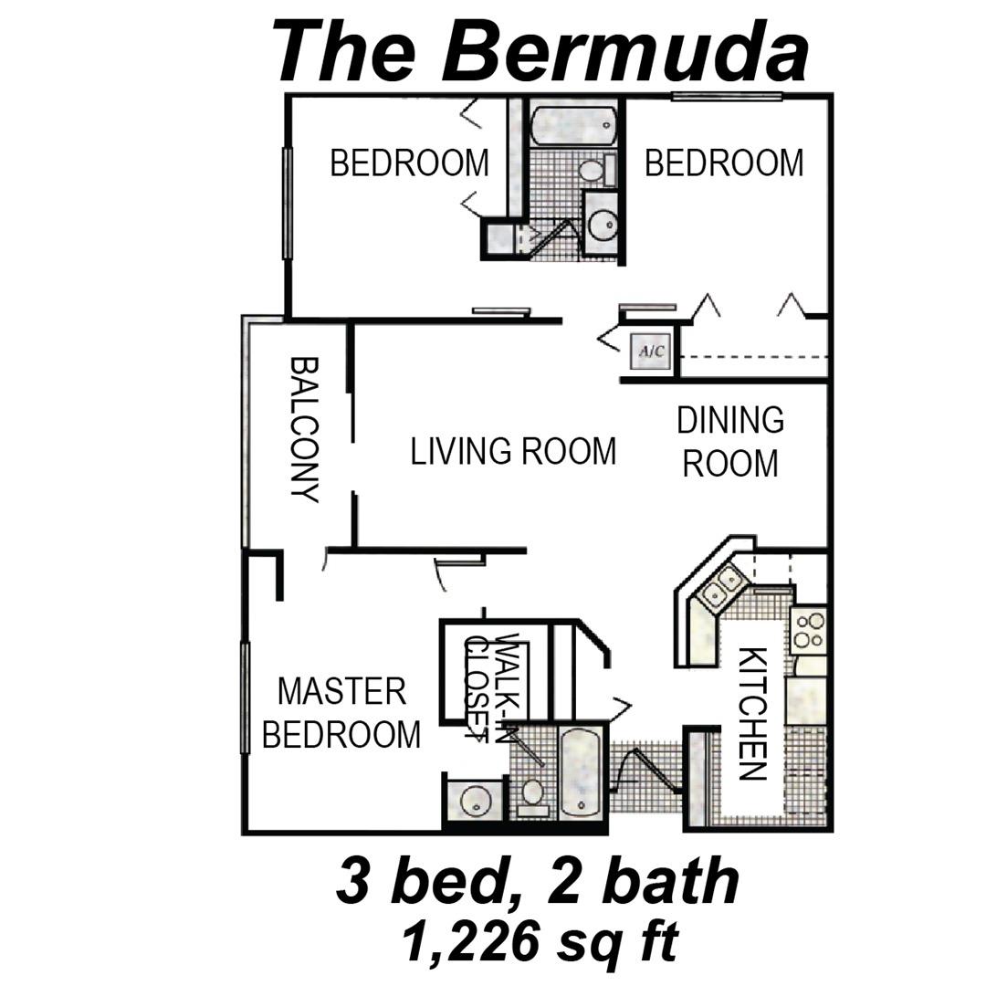 Island Shores Greenacres Apartments Bermuda Floorplan