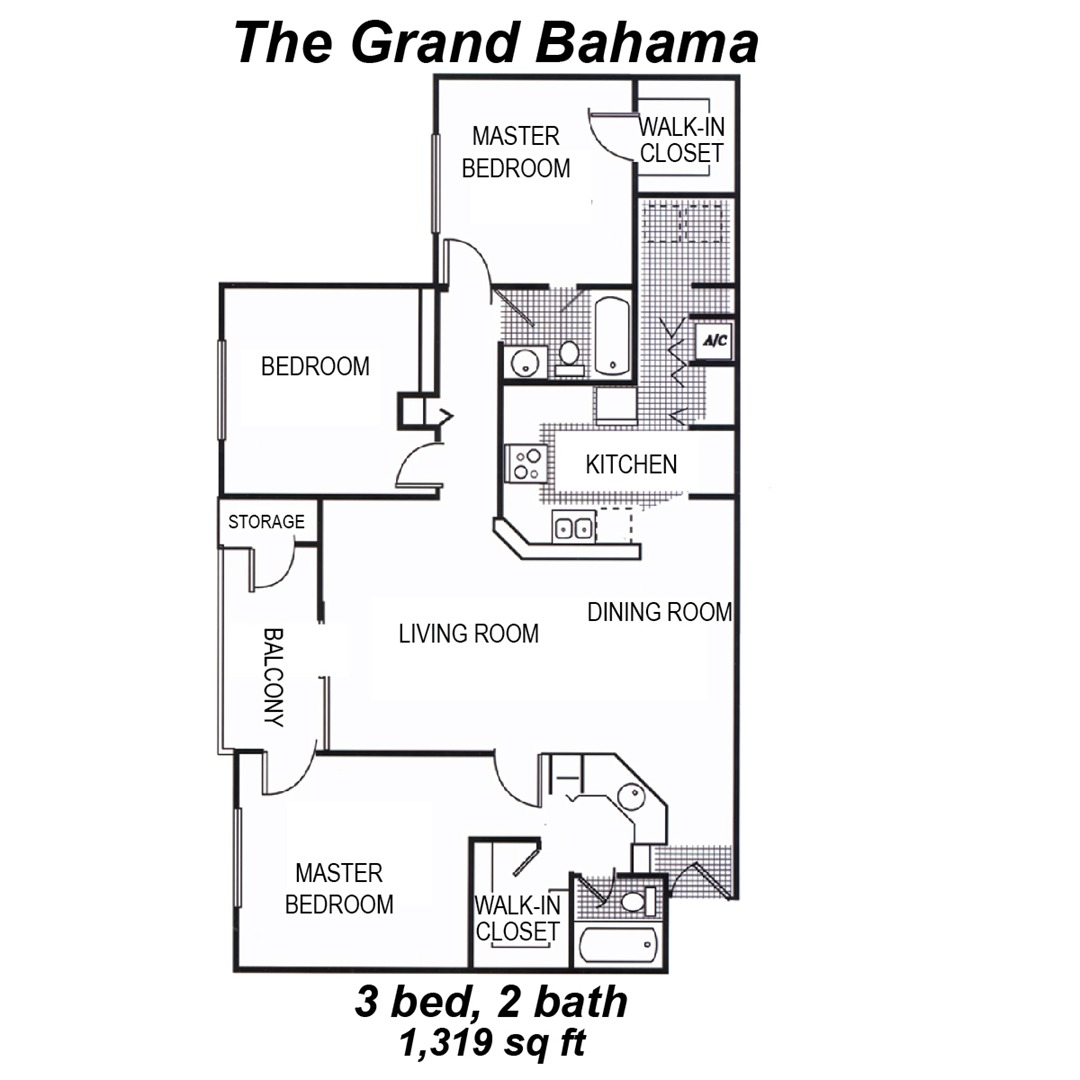 Island Shores Greenacres Apartments Grand Bahamas Floorplan